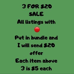 3 for $20 sale!!!  All listings with 🔴 qualifies